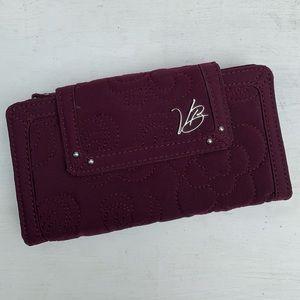 Vera Bradley burgundy quilted wallet